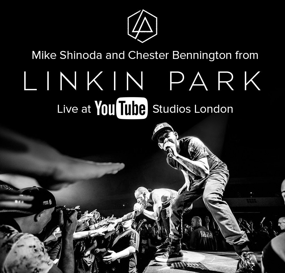 linkin park fan event and performance at youtube space. Black Bedroom Furniture Sets. Home Design Ideas
